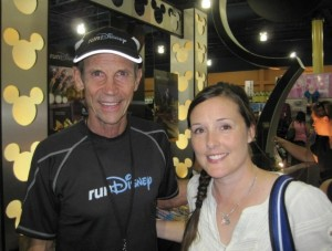 Me and Jeff Galloway at the Princess Half Marathon Expo. He's super nice and always ready to take a picture or sign a bib!