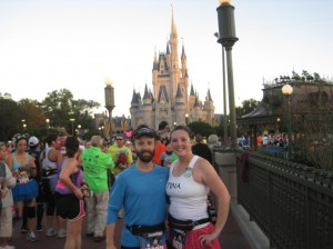 Jim and I in front of Cinderella's Castle!