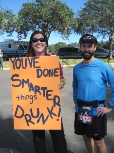 One of the fantastic signs we saw during the race!