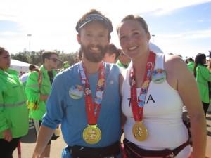 At the Finish!  Marathon Complete
