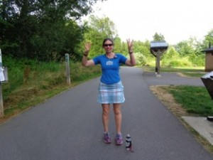 Finished with 43 miles completed, one happy Moon Jogger who looks forward to doing this again.