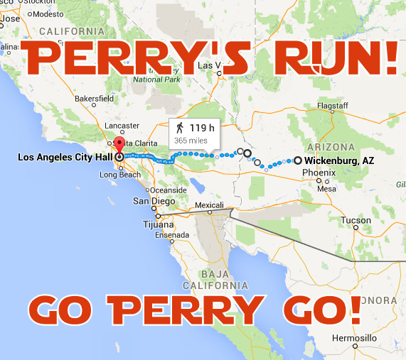 Click on the map for more details on Perry's Route